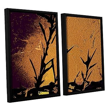 ArtWall 'Shadow Rock' 2-Piece Canvas Set 24