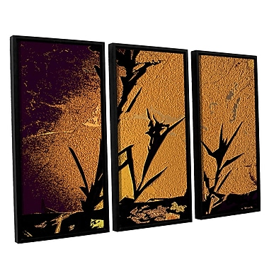 ArtWall 'Shadow Rock' 3-Piece Canvas Set 36