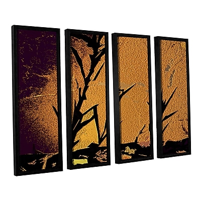 ArtWall 'Shadow Rock' 4-Piece Canvas Set 36