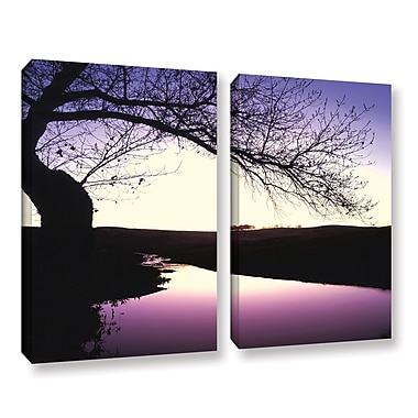 ArtWall 'Squaw Valley Twilight' 2-Piece Gallery-Wrapped Canvas Set 24