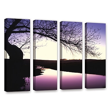 ArtWall 'Squaw Valley Twilight' 4-Piece Gallery-Wrapped Canvas Set 36