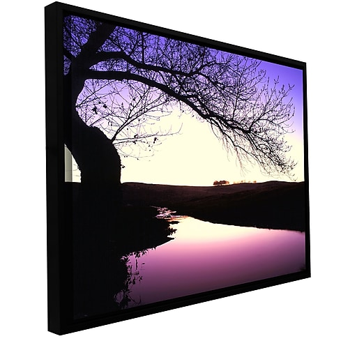 "ArtWall 'Squaw Valley Twilight' Gallery-Wrapped Canvas 18"" x 24"" Floater-Framed (0uhl139a1824f)"