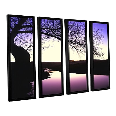 ArtWall 'Squaw Valley Twilight' 4-Piece Canvas Set 24