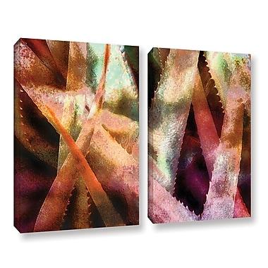 ArtWall 'Suculenta Paleta 2' 2-Piece Gallery-Wrapped Canvas Set 36