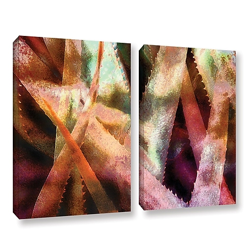 "ArtWall 'Suculenta Paleta 2' 2-Piece Gallery-Wrapped Canvas Set 36"" x 48"" (0uhl140b3648w)"