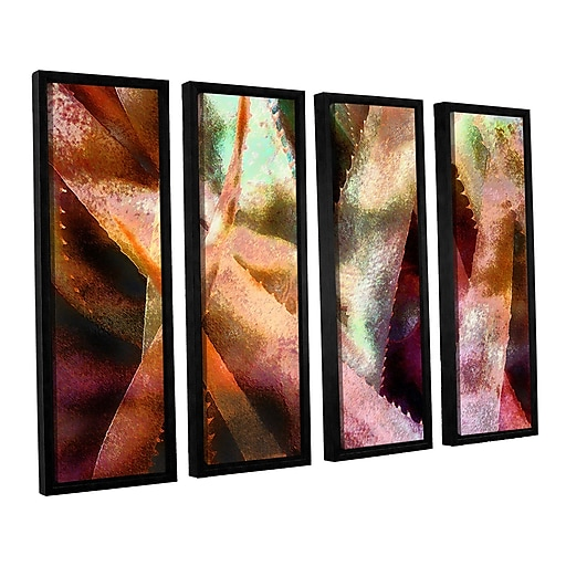 "ArtWall ""Suculenta Paleta 2"" 4-Piece Canvas Set 24"" x 32"" Floater-Framed (0uhl140d2432f)"