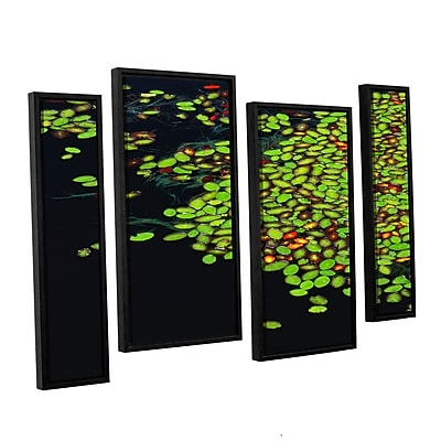 ArtWall 'Tenmile Lake' 4-Piece Canvas Staggered Set 36