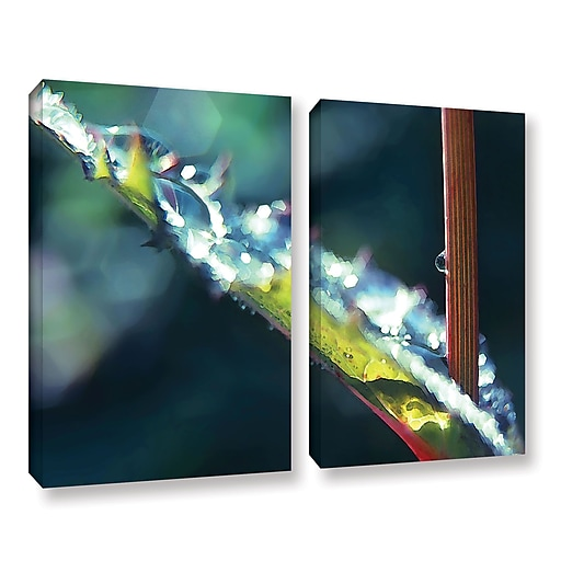 "ArtWall ""After Garden Rain"" 2-Piece Gallery-Wrapped Canvas Set 36"" x 48"" (0uhl145b3648w)"