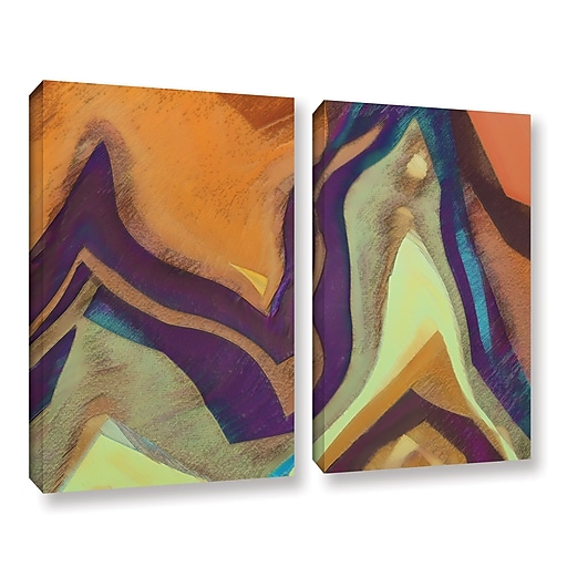 "ArtWall ""Arrt Attack"" 2-Piece Gallery-Wrapped Canvas Set 24"" x 32"" (0uhl147b2432w)"