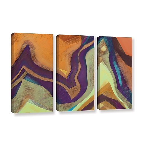 "ArtWall 'Arrt Attack' 3-Piece Gallery-Wrapped Canvas Set 36"" x 54"" (0uhl147c3654w)"