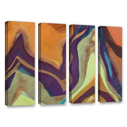 "ArtWall 'Arrt Attack' 4-Piece Gallery-Wrapped Canvas Set 36"" x 48"" (0uhl147d3648w)"