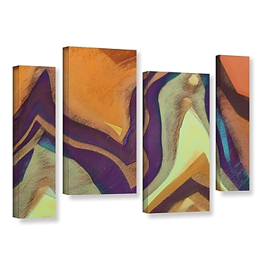 ArtWall 'Arrt Attack' 4-Piece Gallery-Wrapped Canvas Staggered Set 36