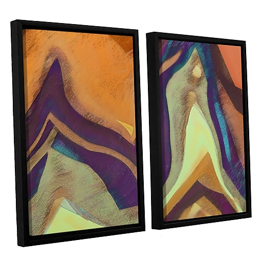 "ArtWall 'Arrt Attack' 2-Piece Canvas Set 24"" x 36"" Floater-Framed (0uhl147b2436f)"