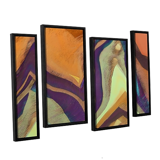 "ArtWall 'Arrt Attack' 4-Piece Canvas Staggered Set 24"" x 36"" Floater-Framed (0uhl147i2436f)"