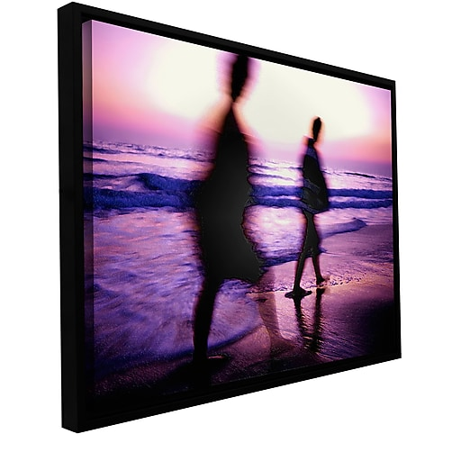 "ArtWall 'Beach Combers' Gallery-Wrapped Canvas 18"" x 24"" Floater-Framed (0uhl148a1824f)"