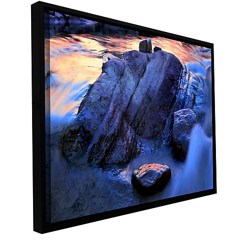 "ArtWall 'Canyon Colours' Gallery-Wrapped Canvas 14"" x 18"" Floater-Framed (0uhl152a1418f)"