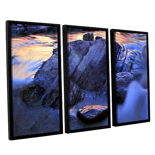 """ArtWall 'Canyon Colours' 3-Piece Canvas Set 36"""" x 54"""" Floater-Framed (0uhl152c3654f)"""