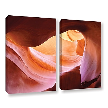 ArtWall 'Canyon Of The Navajo' 2-Piece Gallery-Wrapped Canvas Set 24