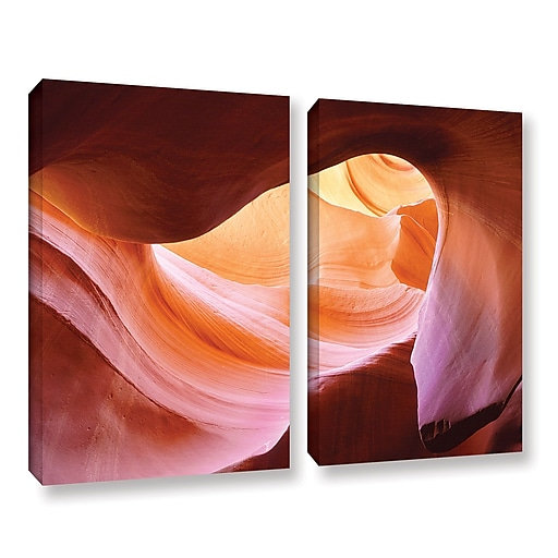 """ArtWall 'Canyon Of The Navajo' 2-Piece Gallery-Wrapped Canvas Set 36"""" x 48"""" (0uhl153b3648w)"""