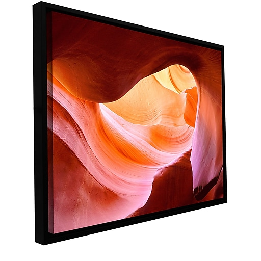"ArtWall 'Canyon Of The Navajo' Gallery-Wrapped Canvas 18"" x 24"" Floater-Framed (0uhl153a1824f)"