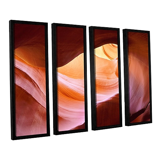 "ArtWall ""Canyon Of The Navajo"" 4-Piece Canvas Set 36"" x 48"" Floater-Framed (0uhl153d3648f)"