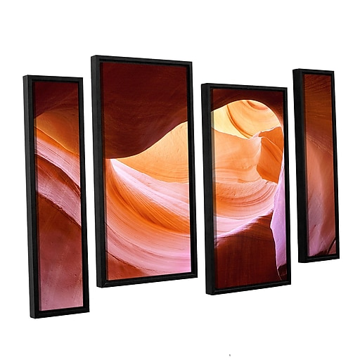 "ArtWall ""Canyon Of The Navajo"" 4-Piece Canvas Staggered Set 24"" x 36"" Floater-Framed (0uhl153i2436f)"