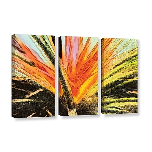 "ArtWall ""Christmas Cactus"" 3-Piece Gallery-Wrapped Canvas Set 36"" x 54"" (0uhl154c3654w)"