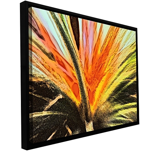 "ArtWall 'Christmas Cactus' Gallery-Wrapped Canvas 24"" x 32"" Floater-Framed (0uhl154a2432f)"