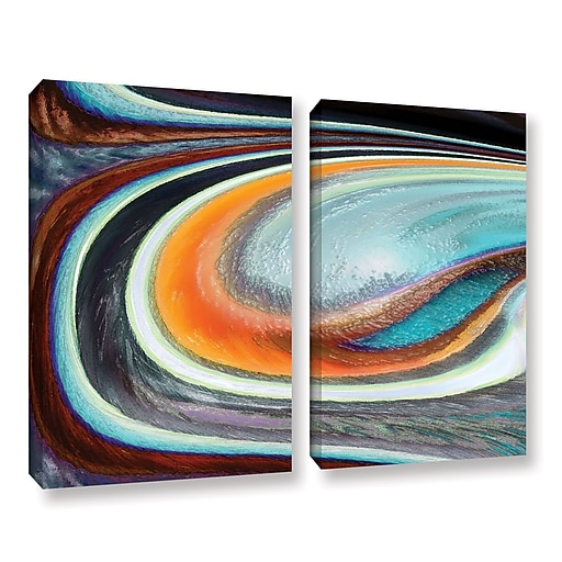 "ArtWall 'Currents' 2-Piece Gallery-Wrapped Canvas Set 36"" x 48"" (0uhl155b3648w)"