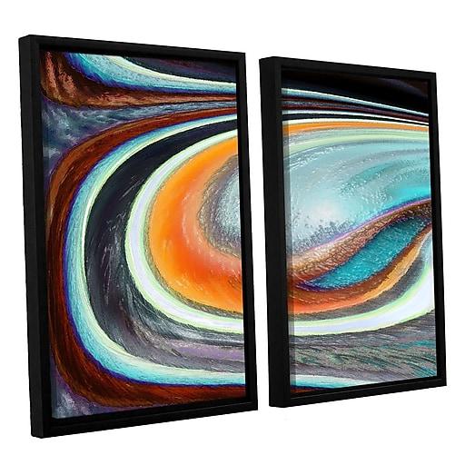 "ArtWall 'Currents' 2-Piece Canvas Set 24"" x 32"" Floater-Framed (0uhl155b2432f)"