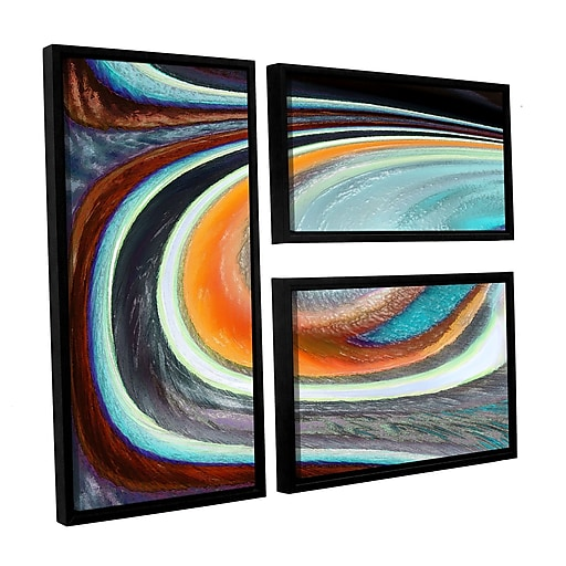 "ArtWall 'Currents' 3-Piece Canvas Flag Set 36"" x 48"" Floater Framed (0uhl155g3648f)"