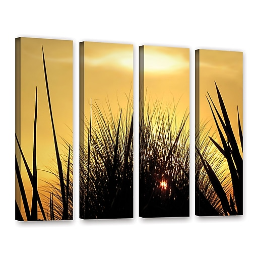 """ArtWall 'Deep In July' 4-Piece Gallery-Wrapped Canvas Set 36"""" x 48"""" (0uhl156d3648w)"""