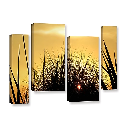 """ArtWall 'Deep In July' 4-Piece Gallery-Wrapped Canvas Staggered Set 24"""" x 36"""" (0uhl156i2436w)"""