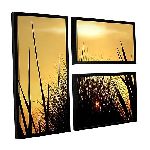 "ArtWall 'Deep In July' 3-Piece Canvas Flag Set 36"" x 48"" Floater-Framed (0uhl156g3648f)"