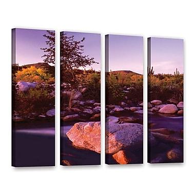 ArtWall 'Deer Creek Evening' 4-Piece Gallery-Wrapped Canvas Set 36