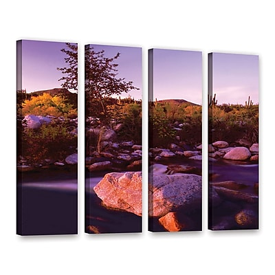 ArtWall 'Deer Creek Evening' 4-Piece Gallery-Wrapped Canvas Set 36