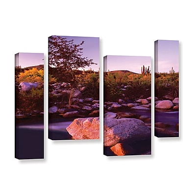 ArtWall 'Deer Creek Evening' 4-Piece Gallery-Wrapped Canvas Staggered Set 24