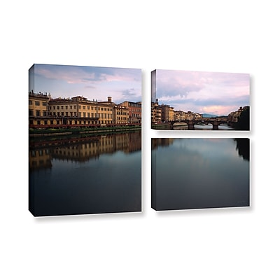 """ArtWall 'Florence Memories' 3-Piece Gallery-Wrapped Canvas Flag Set 24"""" x 36"""" (0yat071g2436w)"""