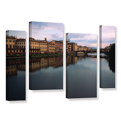 ArtWall 'Florence Memories' 4-Piece Gallery-Wrapped Canvas Staggered Set 36