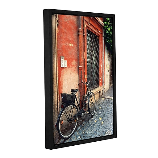 """ArtWall 'La Bicicletta' Gallery-Wrapped Canvas 24"""" x 36"""" Floater-Framed (0yat073a2436f)"""