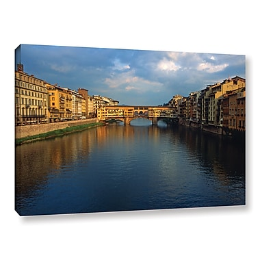 ArtWall 'Ponte Vecchio Sunset' Gallery-Wrapped Canvas 12