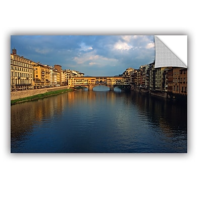 ArtWall 'Ponte Vecchio Sunset' Art Appeelz Removable Wall Art Graphic 24