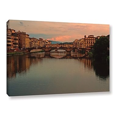 ArtWall 'Ponte Vecchio Reflect' Gallery-Wrapped Canvas 32