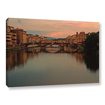 ArtWall 'Ponte Vecchio Reflect' Gallery-Wrapped Canvas 24