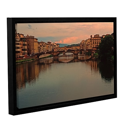 ArtWall 'Ponte Vecchio Reflect' Gallery-Wrapped Canvas 16