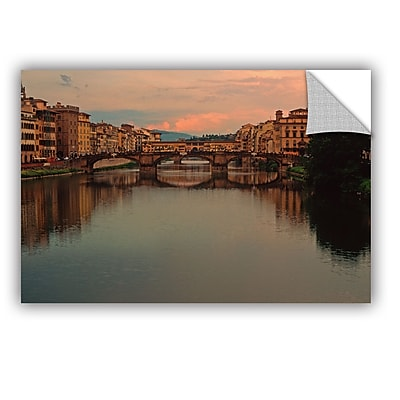 ArtWall 'Ponte Vecchio Reflect' Art Appeelz Removable Wall Art Graphic 12