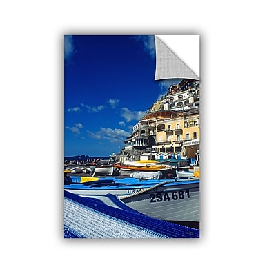 ArtWall 'PositanoS Colorful Boats' Art Appeelz Removable Wall Art Graphic 32