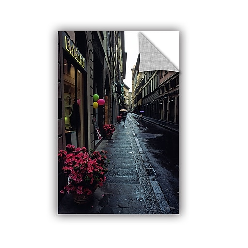 """ArtWall 'Rainy Day In Florence' Art Appeelz Removable Wall Art Graphic 32"""" x 48"""" (0yat078a3248p)"""