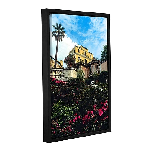 """ArtWall 'Spanish Steps In Rome' Gallery-Wrapped Canvas 24"""" x 36"""" Floater-Framed (0yat079a2436f)"""