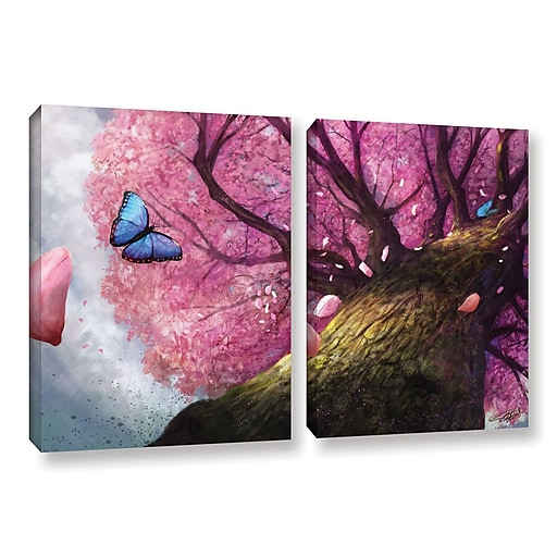 """ArtWall 'In The Shadow Of Peace' 2-Piece Gallery-Wrapped Canvas Set 32"""" x 48"""" (0goa004b3248w)"""